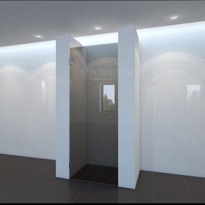 Душевая дверь kl-110 прозрачная серая